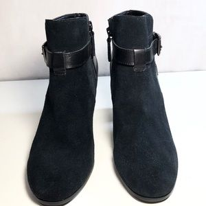 Cole Haan Shoes - Cole Haan Minna Black Suede Ankle Boot Bootie 7.5